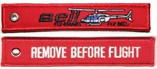 BELL HELICOPTER - REMOVE BEFORE FLIGHT - RED KEYCHAIN - KEY045