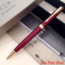 Parker Sonnet Ballpoint Pen Golden Clip Business Ball point Pen Blue Refill H4