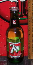 2016 7 UP 12 OUNCE GLASS 7 UP  BOTTLE MADE WITH REAL SUGAR