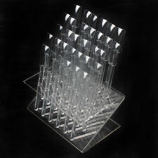 32Pcs Clear Color Tips Pop Sticks Nail Art Display Stand Practice Training Tool