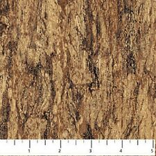 Woodland Stonehenge Tree Bark Brown Northcott Quilt Fabric by the 1/2 yard
