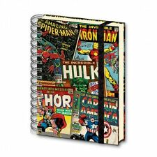 MARVEL RETRO HARDCOVER RINGBOUND A5 NOTEBOOK NEW LINED 100% OFFICIAL MERC