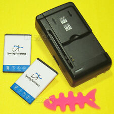 2x 1060mAh Battery Universal USB Charger for Tracfone Samsung SGH-T301G Phone
