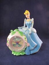 Vtg 1994 Disney Cinderella Alarm Clock Coin Savings Bank WORKS EUC