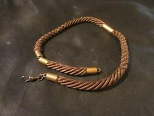 Lovely Victorian Quality Gold Mourning Braided Hair Watch Chain