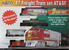 Kato 106-6271 F7 Freight Train set Santa Fe ATSF N MIB