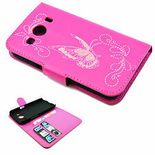 Flip Phone Pink Leather Wallet Magnetic Case Cover For Samsung Galaxy Ace 4 G357