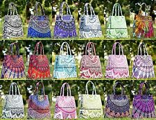 30 Pc Wholesale Lot MANDALA SHOULDER BAG BOHO BOHEMIAN HANDBAG TOTE INDIAN PURSE