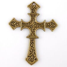 10pcs Hot Carved Pattern Vintage Bronze Plated Arrow Crosses Alloy Pendants Lots