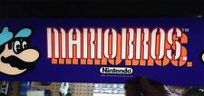 MINT Nintendo SUPER MARIO BROTHERS Arcade Machine PLEXI MARQUEE - MINT Condition