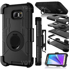 For Samsung Galaxy S7 Edge Rugged Hybrid Hard Case Cover + Belt Clip Holster