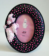 ReTrO DeSiGn! Pink Poodle Polka Dot Oval Picture Frame SP