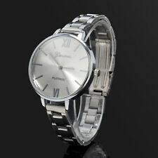 Stainless Steel Women's New silver Thin Band Quartz Analog Dress Wrist Watches