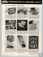 1961 PAPER AD Herkimer OK Cub Kart 024 Gas Emgine Little Miss Muffet Toy Tea Set
