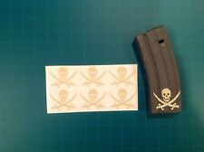 AR 15 Magazine Sticker 6 Pack, TRADITIONAL CALICO JACK, Navy Seals, AR, TAN!