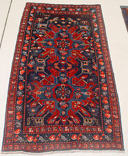 "ANTIQUE (Dated 1910) EAGLE KAZAK RUG FROM ARMENIA OR AZERBAIJAN - 4' 8"" x 8' 2"""