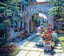 "Howard Behrens VILLA MORNING Canvas S/N w/coa Issue Price$350.00 Large 23"" x 27"""