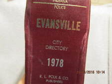 1978 City Directory for Evansville IN: Names, Addresses, Telephone Numbers & Ads
