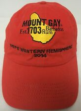 "MOUNT GAY RUM ""SNIPE WESTERN HEMISPHERE 2014""  BASEBALL CAP COVER RED - GOLD EUC"