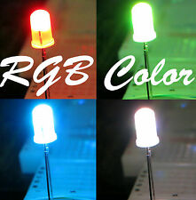 20pcs 5mm Round Slow 7 Color Changing 2.5-3.4V 20mA RGB LED Diffused,US Seller