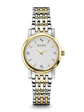 Bulova Women's 98P115 Diamond Accented Silver and Gold Tone Watch