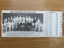 1987-88 BOSTON CELTICS Team Photo Schedule LARRY BIRD KEVIN McHALE ROBERT PARISH