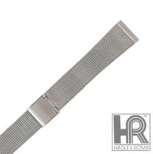 Hadley Roma MB3806W 20mm Stainless Thin Mesh Design Straight End Bracelet Watch
