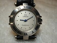 Mint Auth OMEGA Constellation Sapphire Crystal Quartz Woman's Watch Mint Mint