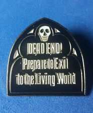RARE VHTF Disney Pin DLR Haunted Mansion Exit Sign Dead End LE 700