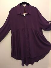 High Low Button up Tunic by Umgee USA