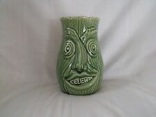Vintage 1960's twin ugly faced 3D celery Pot,15.5 cm high, Trent Walk Pottery