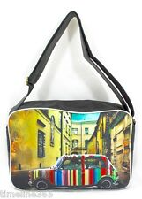 CLASSIC MINI COOPER CAR SPORTS / SCHOOL SHOULDER BAG VINTAGE LOOK