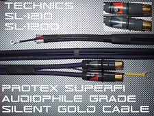 Technics SL-1200/1210 XteX SuperFi Audiophile Grade Pro Gold RCA Cable Lead 1.5m