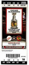 Chicago Blackhawks Stanley Cup Champions 2010 Ticket vs. Red Wings