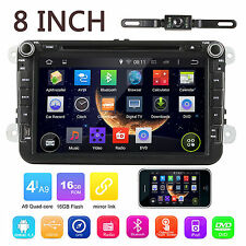 "2DIN Android Car Stereo Radio Player 8"" GPS CAN-bus for VW Golf EOS Passat Jetta"