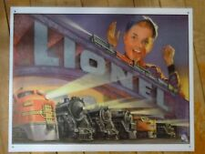 Classic Tin Lionel Train Sign Engine Decor MTH Tyco Layout Christmas Present