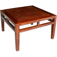 Original Chinese Furniture - Rattan Inlay Wood Side Table (30-067)