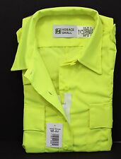 HI-VIS HORACE SMALL SENTRY SS ZIPPER SHIRT HI-VISIBILITY SAFETY YELLOW WOMENS 4X