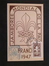 FRANCE MK 1947 PFADFINDER JAMBOREE SCOUTS MAXIMUMKARTE MAXIMUM CARD MC CM c6709