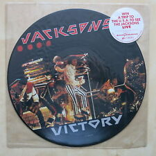 JACKSONS Victory UK LP picture disc in stickered sleeve Michael Jackson Promo