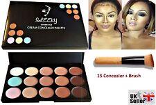 15 Colors Contour Face Cream Makeup Concealer Palette with Wooden Brush CL1