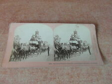 PHOTO STEREOSCOPE STEREOGRAPH 1887 USA GREAT TALLY-HO CARNIVAL CARNAVAL HUNTING