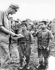 B&W WWII WW2  Photo Japanese Child Soldiers on Okinawa  World War Two / 2213