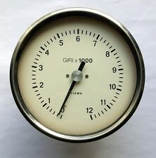 RPM Tachometer Gauge Mechanical FIAMA Italy 12.000rpm