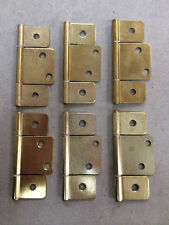 Mobile Home Parts 6 New Interior Door Hinges Polished Brass.