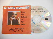 STEVIE WONDER : FROM THE BOTTOM OF MY HEART [ CD PROMO ] ~ PORT GRATUIT