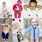 Newborn Kids Baby Boys Girls Infant Romper Jumpsuit Bodysuit Clothes Outfit Lot