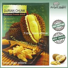 Vacuum Freeze Dried DURIAN Chunk King Fruit Snack - 100g (3.53oz)