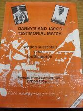 11/09/1984 Swindon Town Guests v Southampton [Danny William & Jack Conley Testim