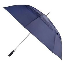 Totes Auto Open Windproof Double Canopy Walking Length Golf Umbrella in Navy